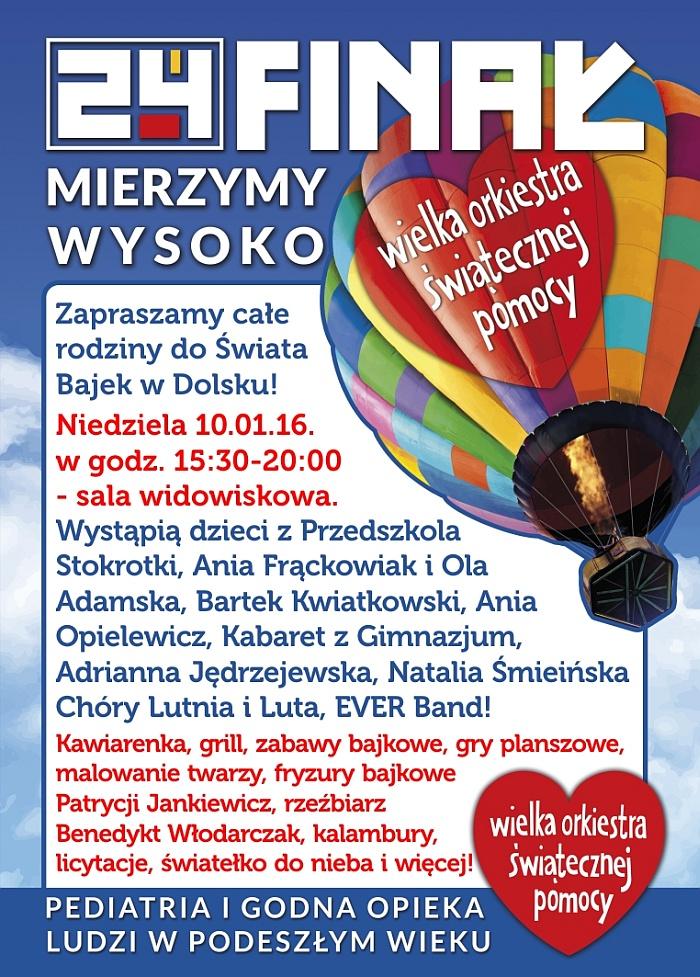 Plakat 24 Finał WOŚP wDolsku